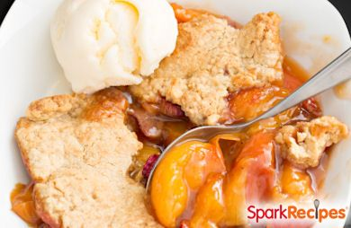Brown Sugar Peach Shortcake