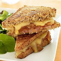 Ham and Caramelized Onion Grilled Cheese