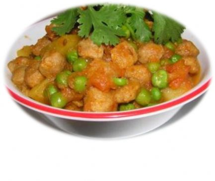 Nutrella Aloo Soy Chunks With Potato Curry Recipe