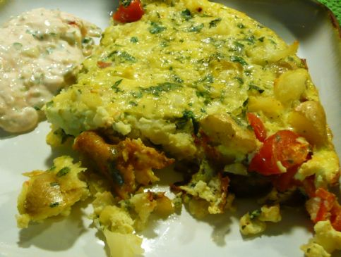 Frittata with cauliflower