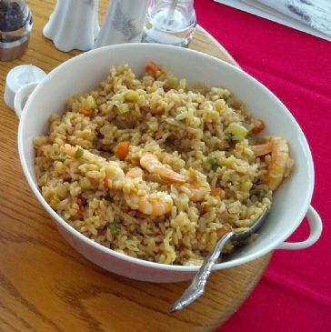 Shrimp and Vegetable Fried Brown Rice