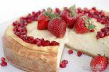 Strawberry pomegranate cheesecake
