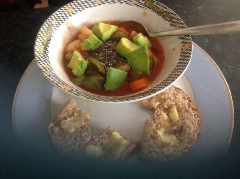Veggie soup no stock needed