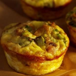 Tiny & Tasty Mushroom-Sausage Quiches!