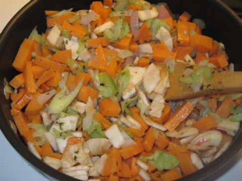 Yam, Apple, Celery, Onion Hash