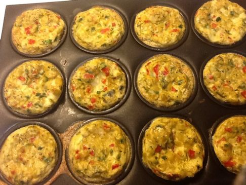 Scrambled Asparagus Omelet Muffin