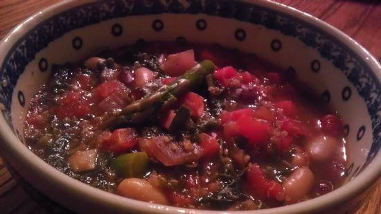 quinoa asparagus minestrone