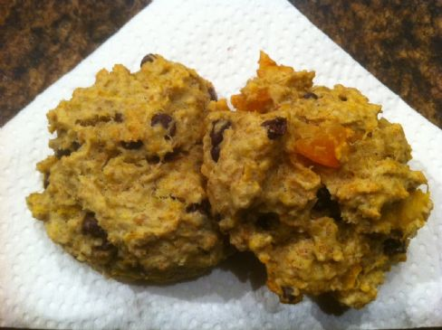Pumpkin & dried fruit cookies