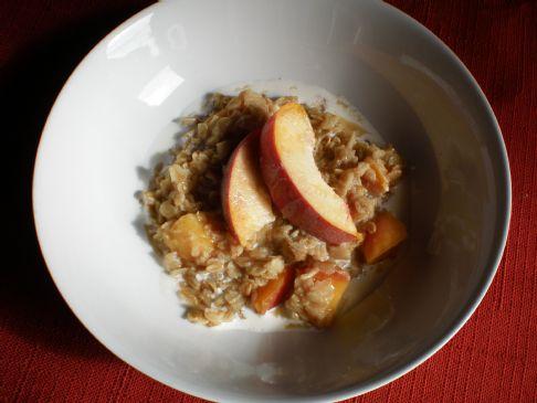 Peach Cobbler Oatmeal