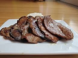 grilled beef slice
