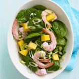 Caribbean Shrimp, Mango and Spinach Salad