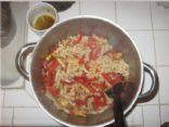 Pasta Sapienza (Bell Peppers and Veggie Chicken)