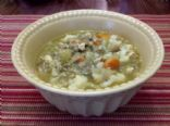 Lentil and Salmon Soup