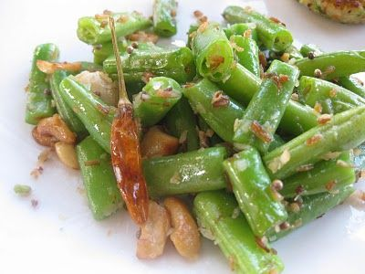 Padma's Coconut Green Beans