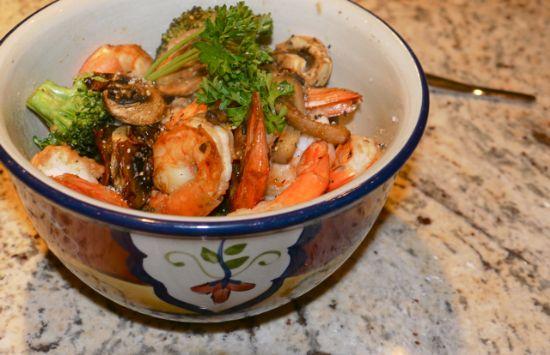 Shrimp, Broccoli & Cauliflower Stir Fry