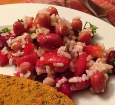 Bean & rice salad