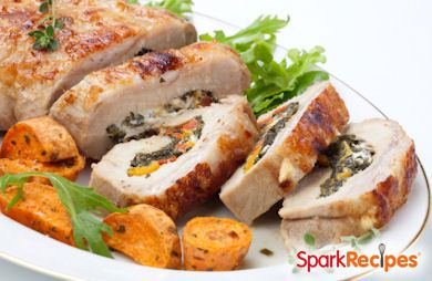 Spinach Stuffed Pork Tenderloin