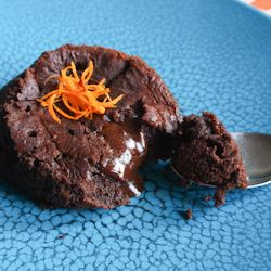 Individual Molten Orange Chocolate Cakes