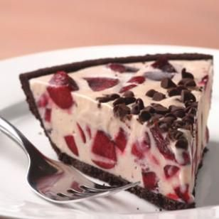 Cherry Ice Cream Pie with Chocolate Cookie Crust