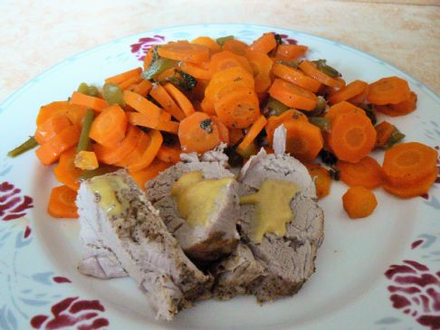 Pork roast with melty carrots