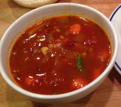 Tomato Corn Minestrone soup