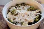 Roasted Broccoli and Cauliflower Au Gratin