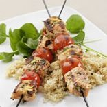 Grilled Rosemary Salmon Skewers