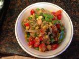 Quinoa Chick Pea and Asparagus stir fry