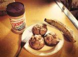 Skinny Peanut Butter Banana Muffins