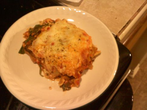Spinach and Portabella Lasagna