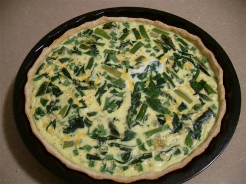 Asparagus, Spinach, and Scallion Quiche