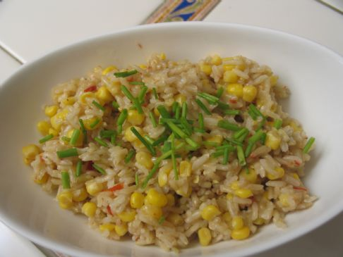 Zesty Rice and Corn (quick recipe!)