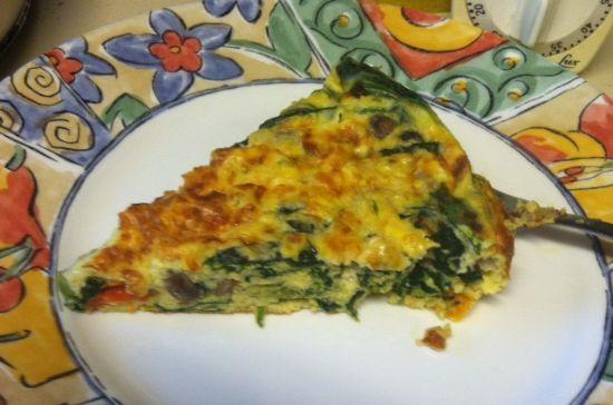 Frittata - Turkey Sausage, Spinach & Veggies