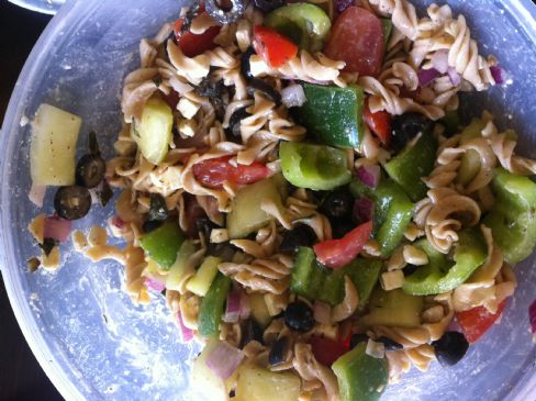 Greek Pasta Salad, Homemade Greek Dressing
