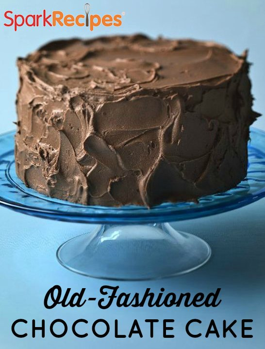 Old Fashioned Chocolate Fudge Cake Recipe Sparkrecipes
